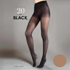 Mot.pėdkelnės Egeo Black Velvet 20  3d (vnt)