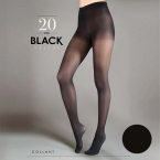 Mot.pėdkelnės Egeo Black Velvet 20  2d (vnt)
