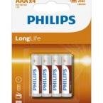 Elementai PHILIPS longlife AAA 4v. (pak,4vnt)