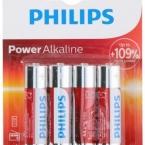 Elementai PHILIPS AA 4v. ALKALINE (pak,4vnt)