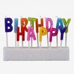 Žvakutės ant torto raidės (pak,13vnt)